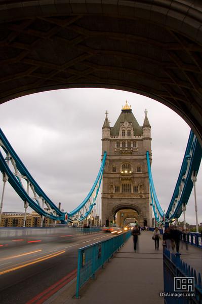 Looking along Tower Bridge