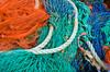 Netting at Polperro, Cornwall