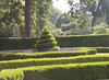 Queen's Garden.  Garden hedging shadows, front of palace.