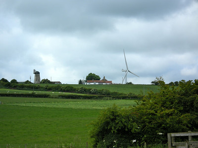 Windmills Old and New - Near Hart Village, Co Durham