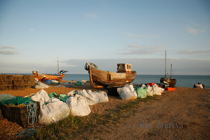 <p>Fishing Boats in Hastings, England, United Kingdom</p>
