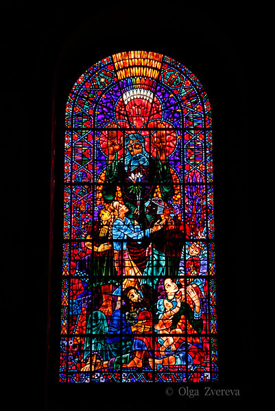<p>Stained Glass Window of Canterbury Cathedral. Canterbury, England, United Kingdom</p>