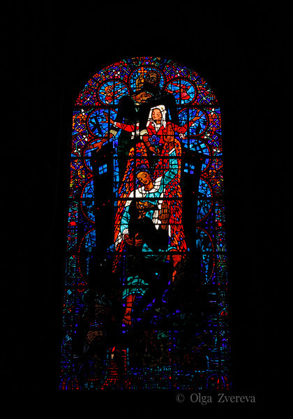 <p>Stained Glass Window of Canterbury Cathedral, Canterbury, England, United Kingdom</p>