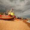 <p>Fishing Boats on the Beach, Hastings, England, United Kingdom</p>