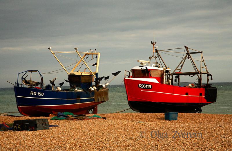 <p>Boats, Hastings, England, United Kingdom</p>