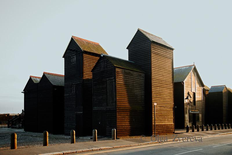 <p>Fishing Huts, Hastings, England, United Kingdom</p>