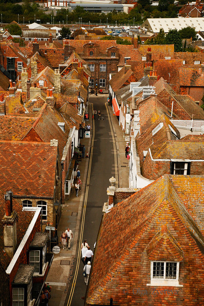 <p>Lion Street View from Tower of Church of St Mary the Virgin. Rye, England, United Kingdom</p>