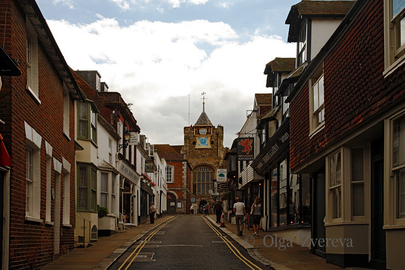 <p>The Church of St Mary the Virgin seen from Lion Street. Rye, England, United Kingdom</p>