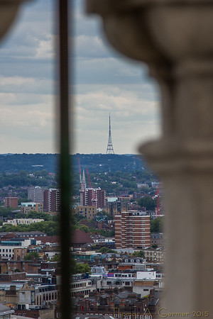 Radio tower from St. Paul's. (Can you really see Paris from St. Paul's?)