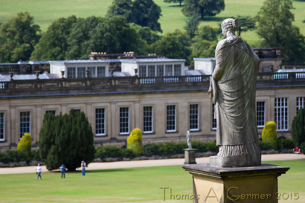 Chatsworth House in Derbyshire, England.