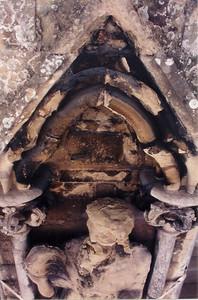 Statue under repair Salisbury cathedral Salisbury England - Jul 1996