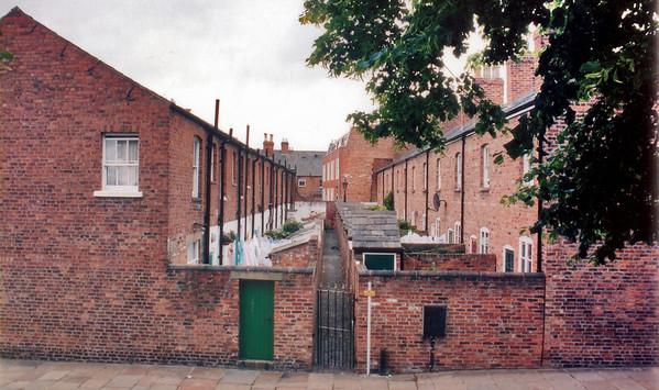 Back of housing Chester England - Jul 1996