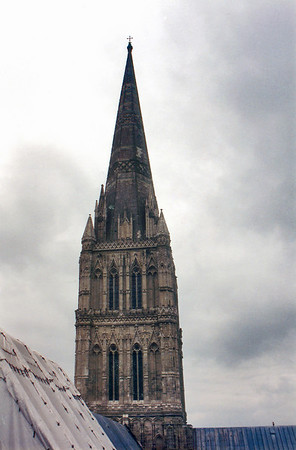 The Spire, height: 404ft - 123m Salisbury cathedral England - Jul 1996
