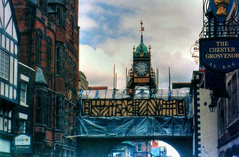 Clock tower Chester England - Jul 1996