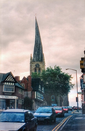 Crooked spire Chesterfield, Derbyshire England - Jul 1996