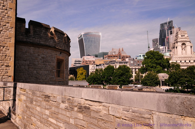 Architectural juxtaposition from Tower of London