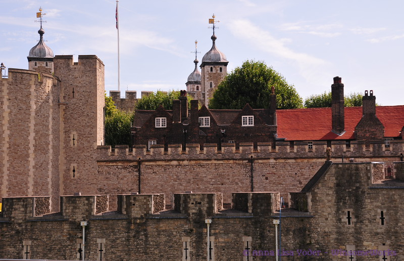 View of Tower of London from outside the walls