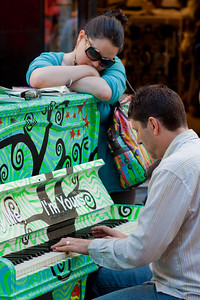 London is littered with these pianos at the moment... This one was being played by a stranger in Carnaby Street