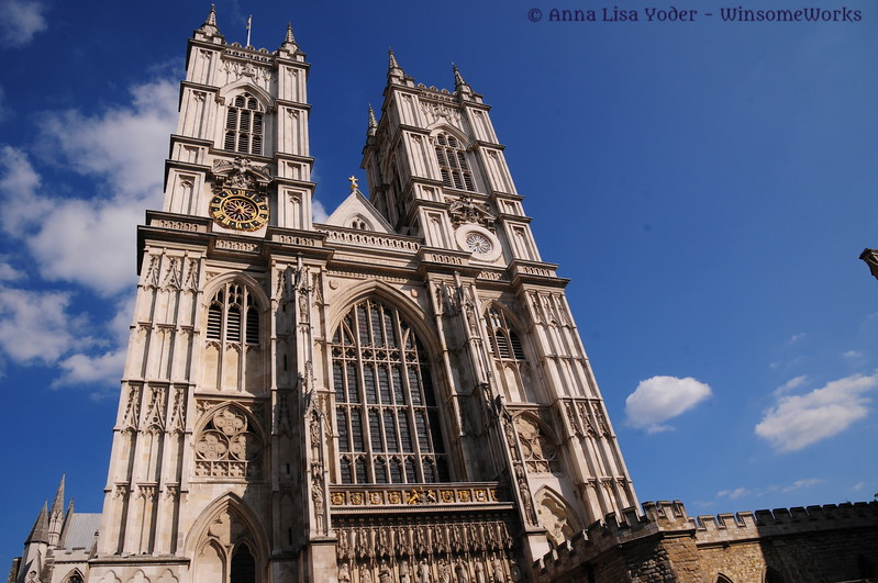 Western façade of Westminster Abbey