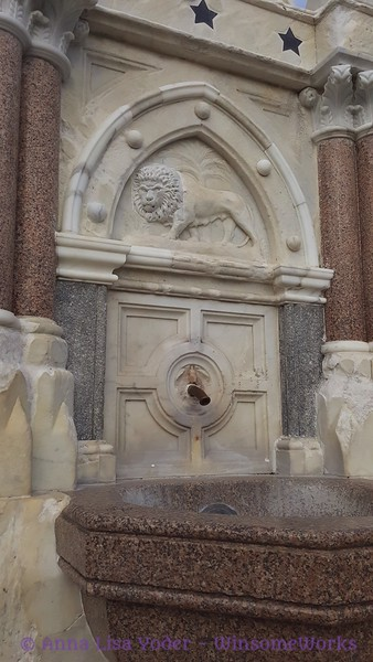 Detail of 1869 Fountain donated by Sir Cowasjee Jehangir