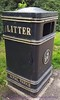 Litter bin in Kensington Gardens