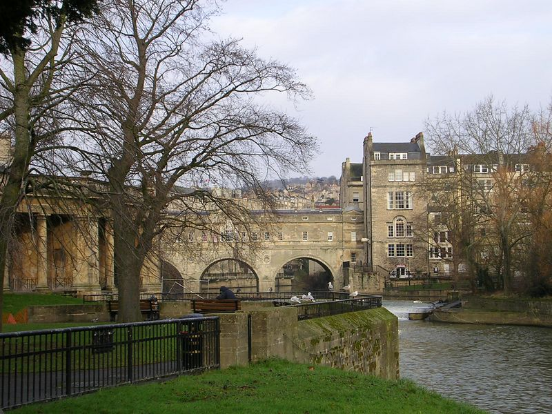 Putney Bridge in Bath, one of the most photographed places in the county.