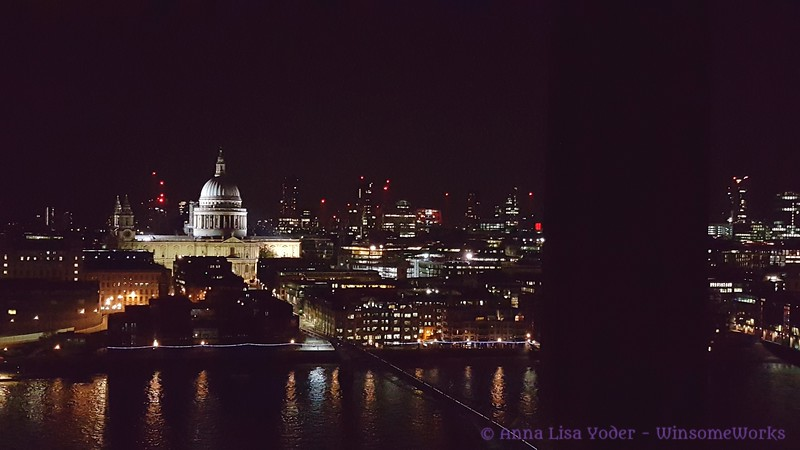St. Paul's at night across the Thames, from the Tate Modern - London
