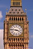 Closer view of the clock on Big Ben