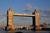 The Tower Bridge near dusk, from Thames Ferry