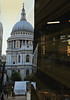St. Paul's in evening from elevator at One Change Place