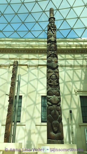 Totem in  Great Court - The British Museum