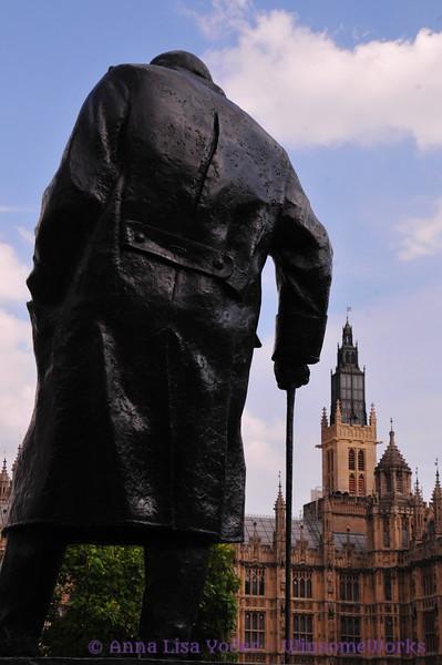 Statue of Winston Churchill speaks to Parliament!