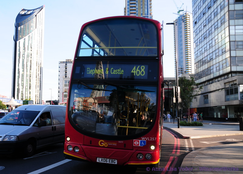 Double-decker headed for Elephant & Castle