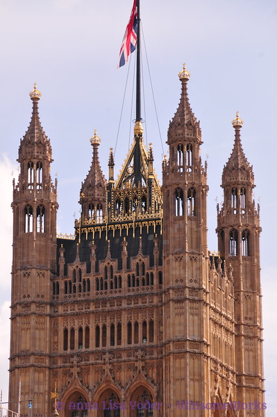 Tower of spires, part of Westminster  -  London