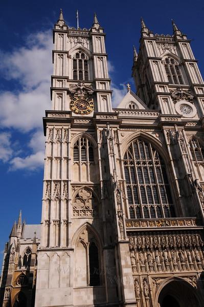 Western façade of Westminster Abbey