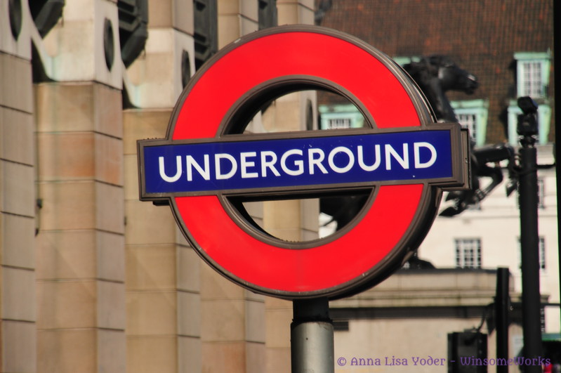 Sign for the Tube, a.k.a. The Underground