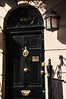 The dear Detective Sherlock Holmes' door - 221 B Baker St.