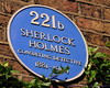 Plaque on Sherlock Holmes' apt. building, Baker St.