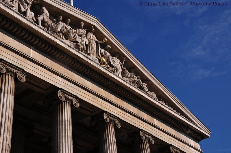 Frieze on the British Museum exterior