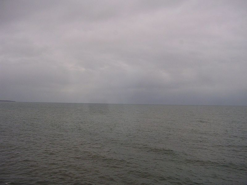 The Atlantic Ocean, or mor properly the English Channel from the train.