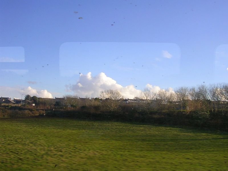 Sunny Cornwal from the train.