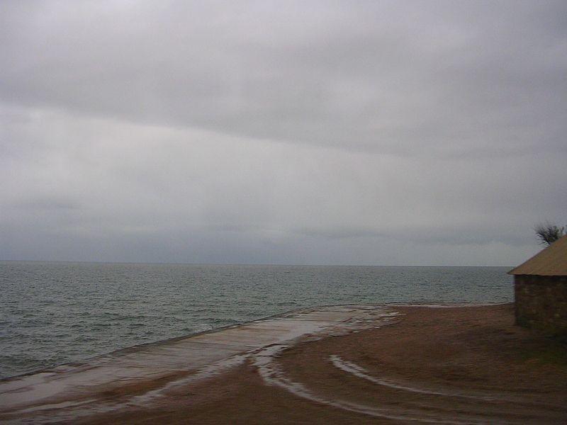 Intersting beach formation.