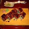 Unagi sushi with avocado.