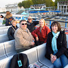 On the River Thames coming back from Greenwich.