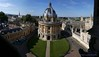 View of Radcliffe's Camera & surrounding buildings from high balcony of St. Mary's  - Oxford