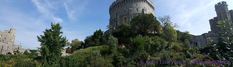 Windsor Castle Pano, with the moat & the castle keep