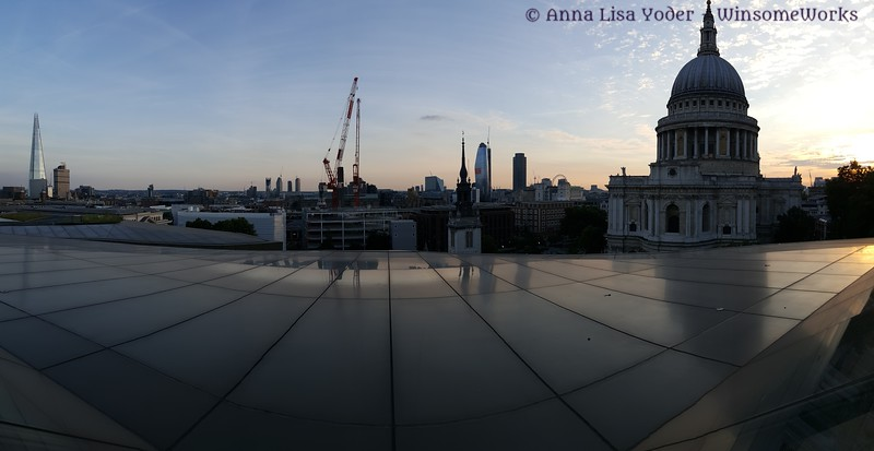 London view from top of One Change Place