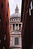 Glimpse through the buildings at St Paul's