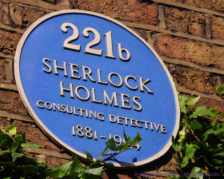 Sign on Sherlock Holmes' apt. - London