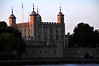 The White Tower & Traitors' Gate at dusk, from Thames River Ferry